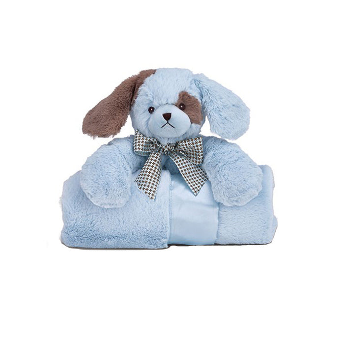 Blue Puppy Blanket