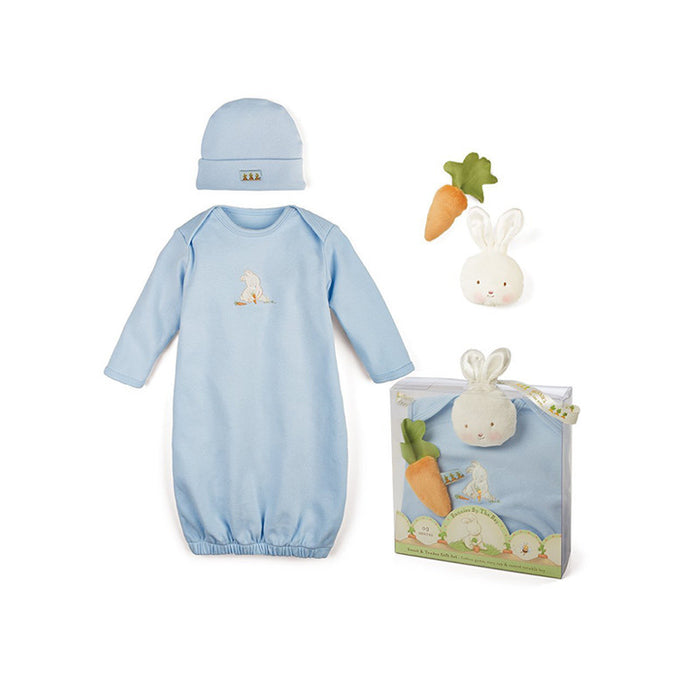 Gift Set of Blue Bunny Gown, Cap and Toys