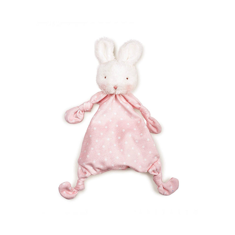 pink bunny lovey teether