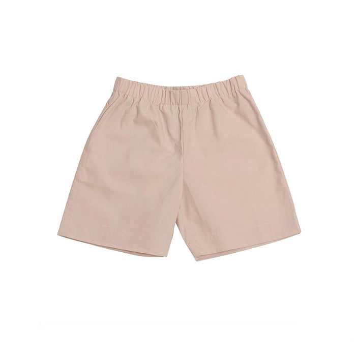 Khaki Cotton Pull-On Shorts