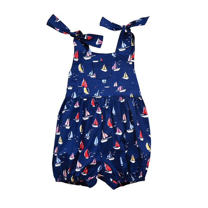 Piper Navy Sailboat Romper