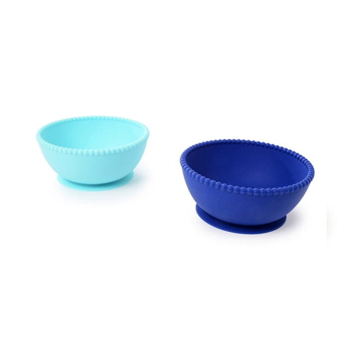 Blue Silicone Suction Bowls