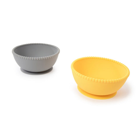 Stormy Grey Silicone Suction Bowls