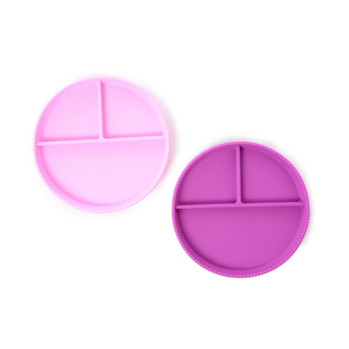 Violet Silicone Divided Plates