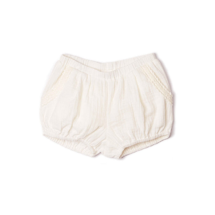 Ivory Lace Bubble Shorts