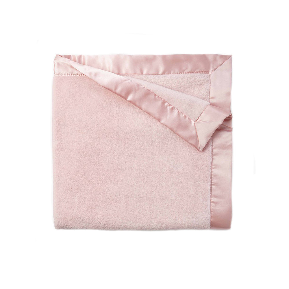 Light Pink Fleece Satin Trim Blanket