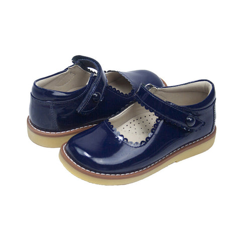 Patent Navy Mary Janes