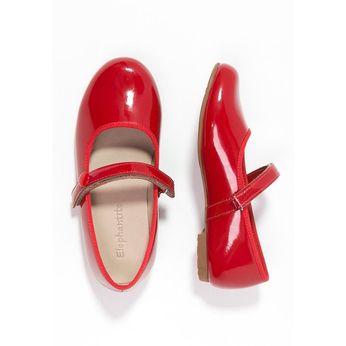 Patent Red Princess Flat