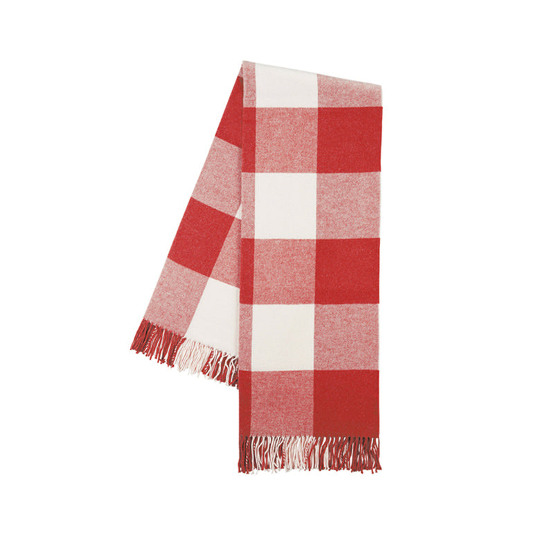 Buffalo Check Throw in Red Poppy