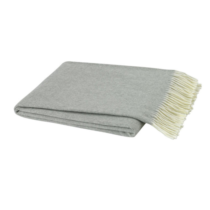 Italian Herringbone Nursery Throw in Light Gray