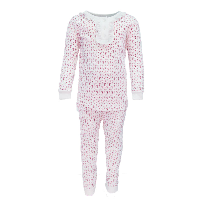 Alden Candy Canes 2pc. Pajama Set
