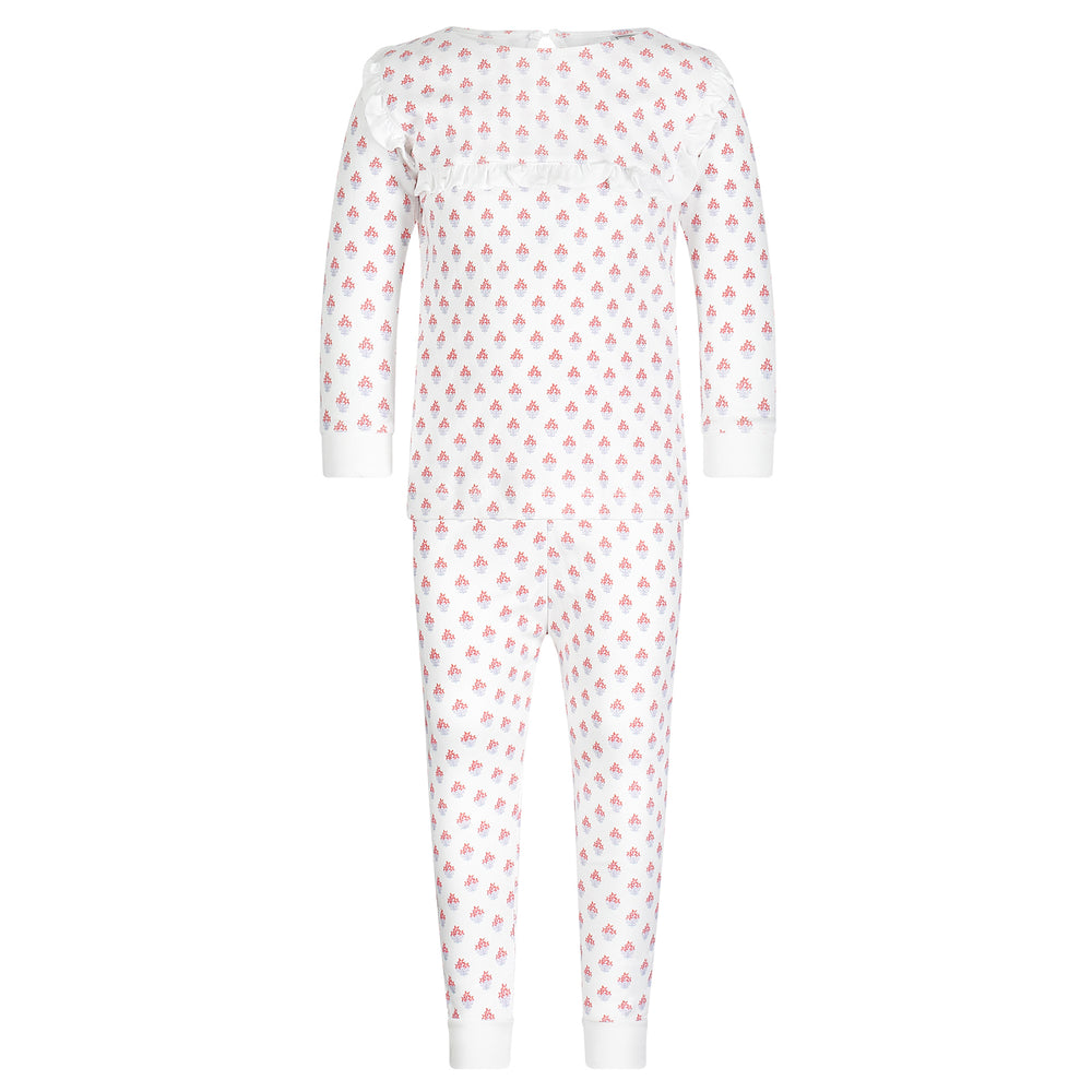 Taylor Two-Piece Blooming Ruffled Pajamas