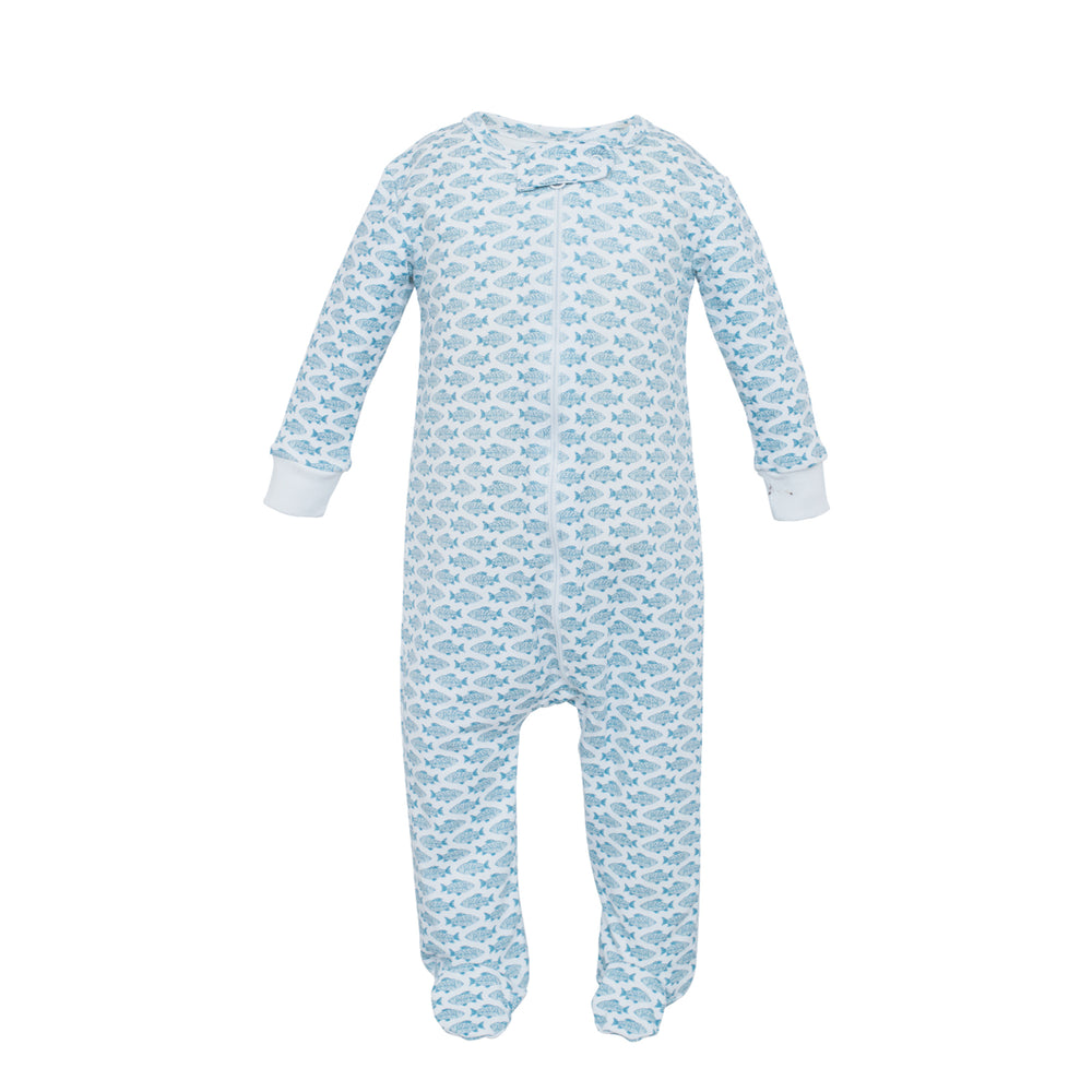 Parker Fun Fish Zippered Footie Jammies