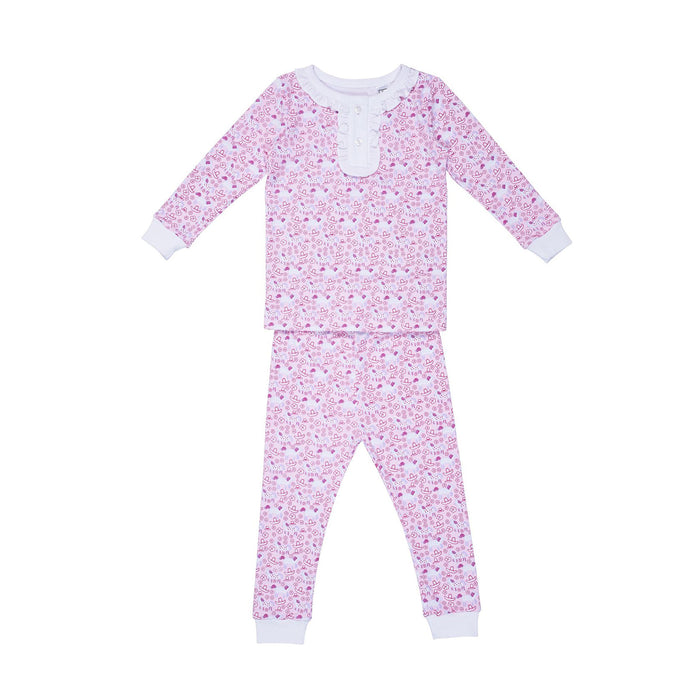 Pink Ruffled Rodeo 2pc Set Pajamas