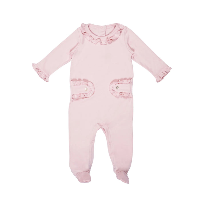 Light Pink Ruffled Footie Pajamas