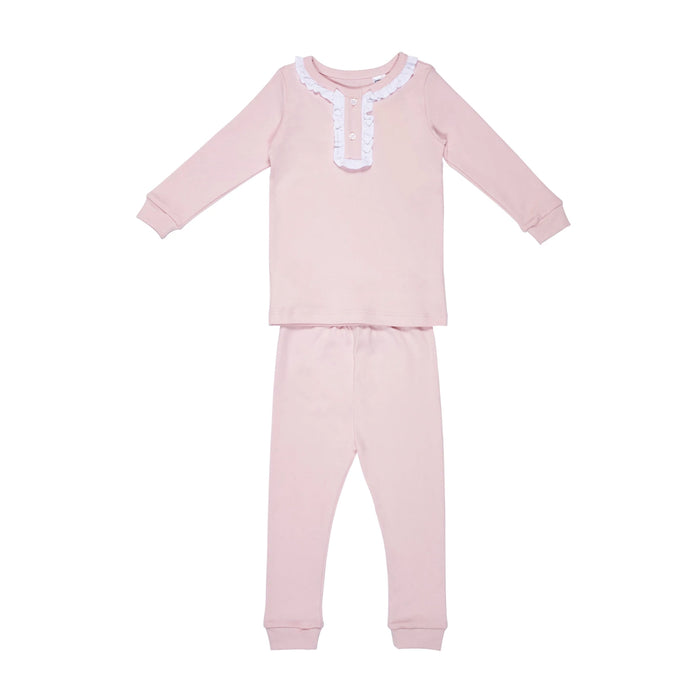 Light Pink Ruffled 2pc Set Pajamas