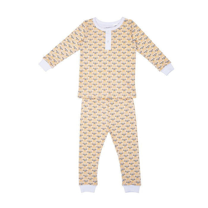 Lion Henley 2pc Set Pajamas