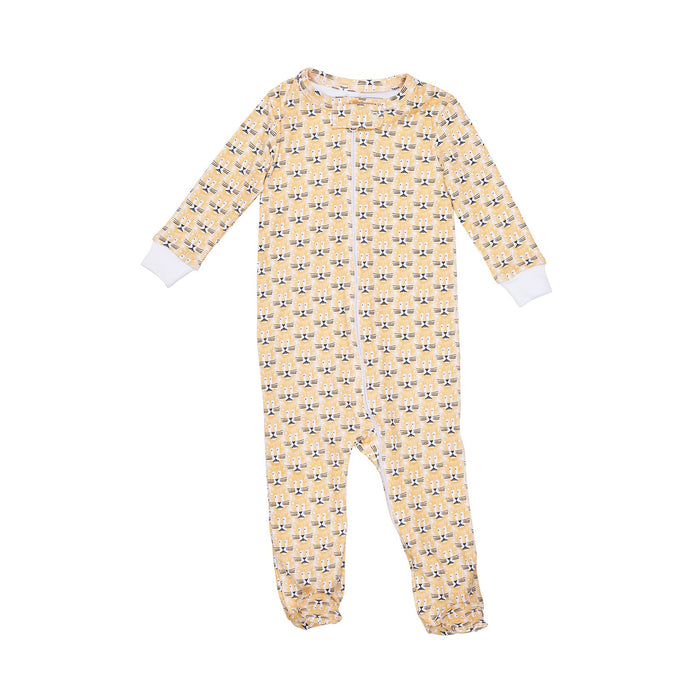 Lion Zipper Footie Pajamas
