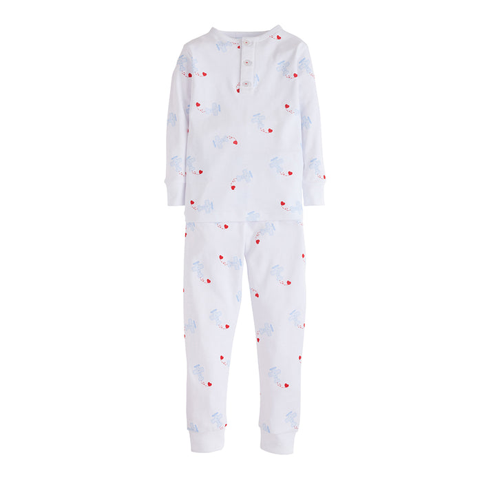 Boys Printed Airplane and Hearts Jammies
