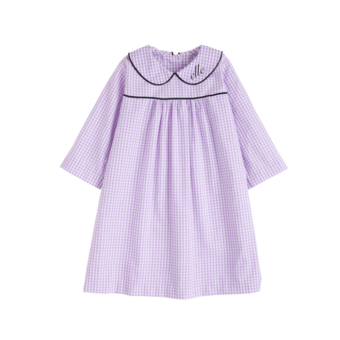 Lavender Gingham Dunn Dress