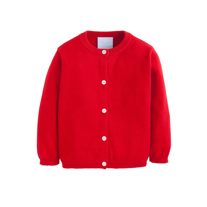 Red Cardigan Sweater