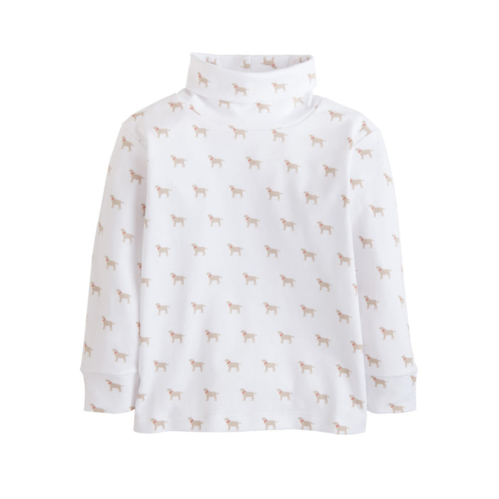 Boy's Lab Printed Turtleneck