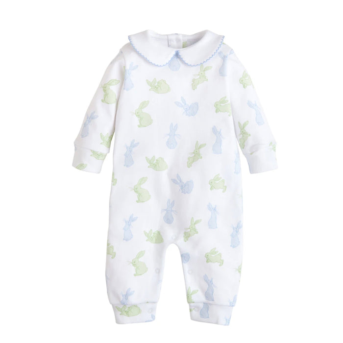Blue & Green Bunny Playsuit