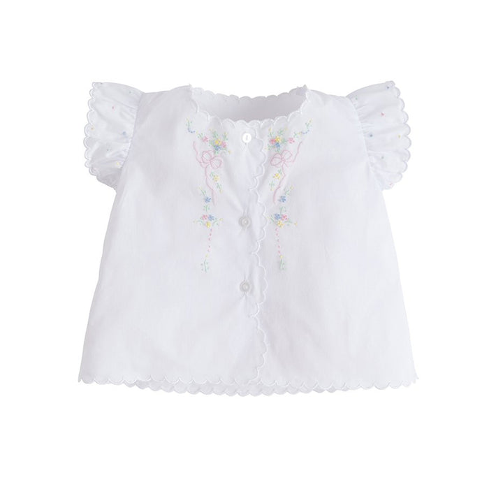Bow and Flower Tea Blouse