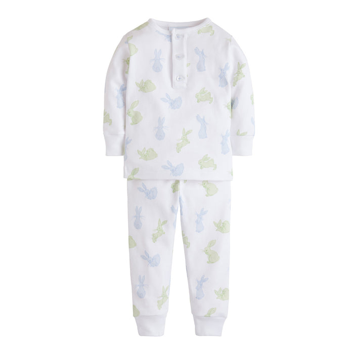 Blue & Green Bunny Jammies