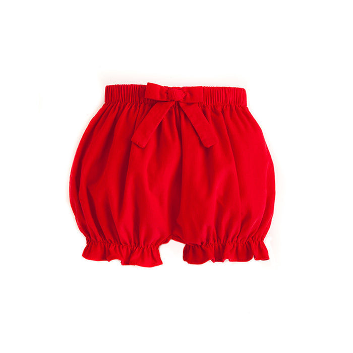 Red Corduroy Bow Bloomers