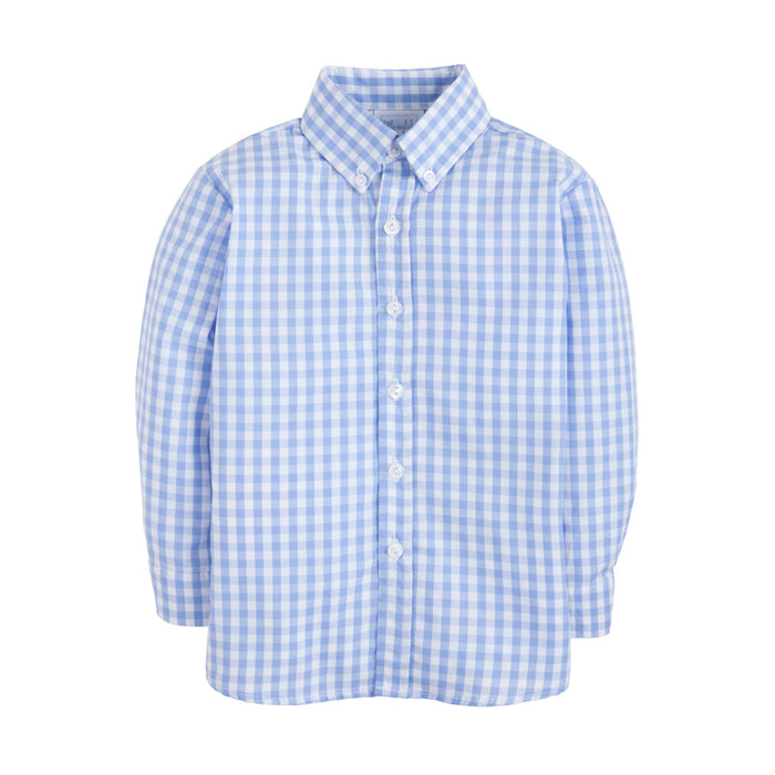 Cornflower Gingham Long-Sleeve Shirt