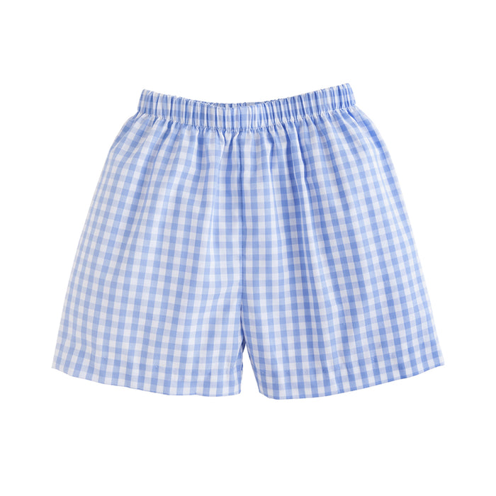 Cornflower Blue Gingham Shorts