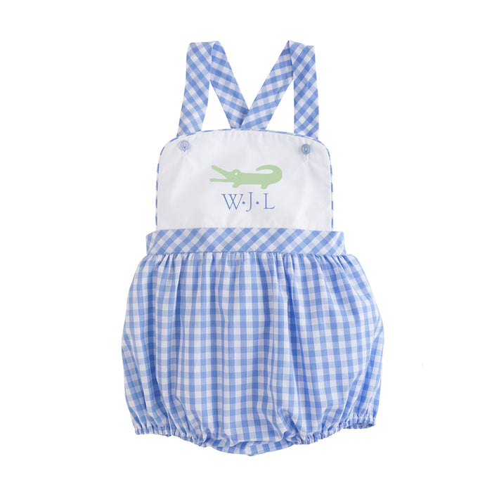 Conrad Cornflower Blue Gingham Sunsuit