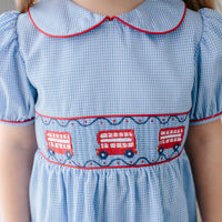 Double Decker Smocked Peter Pan Dress