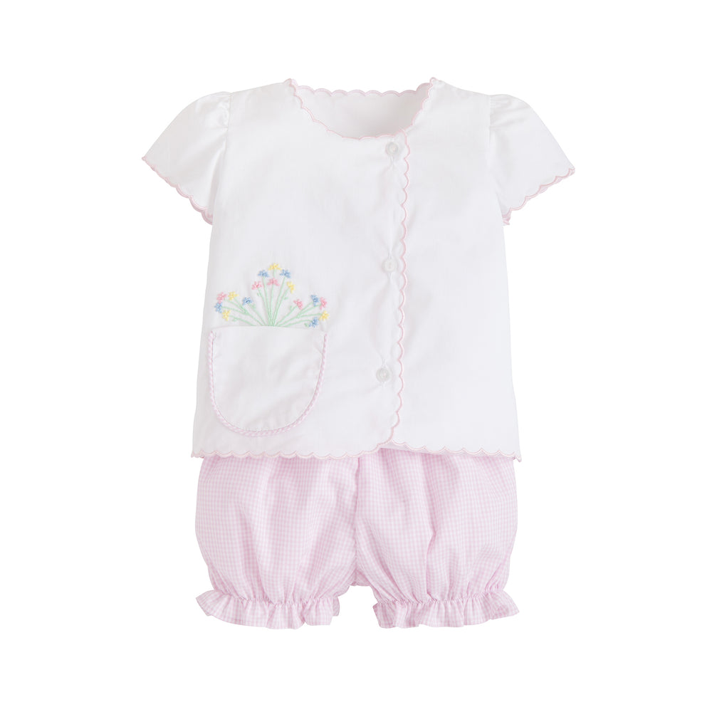 Flower Pocket Diaper Set