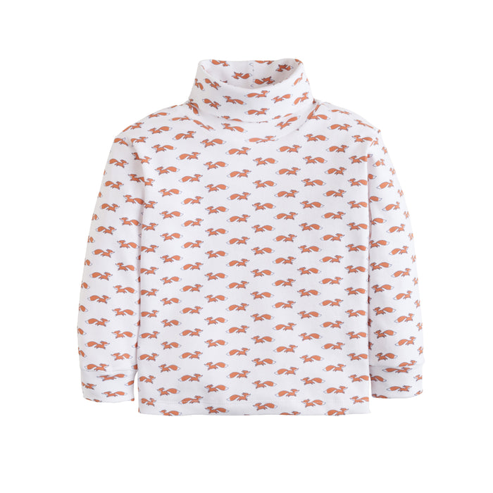 Fox Printed Turtleneck