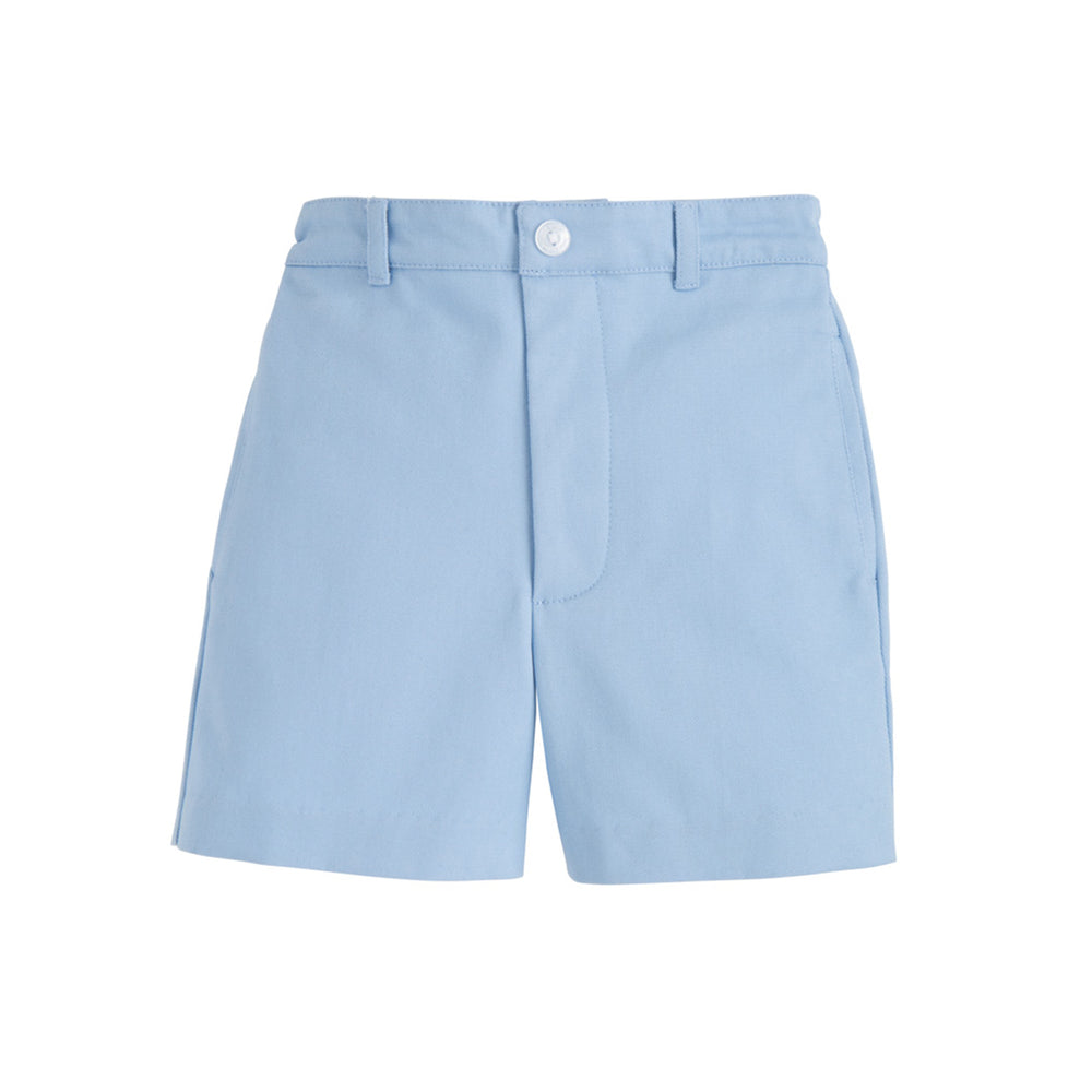 Light Blue Twill Boat Shorts