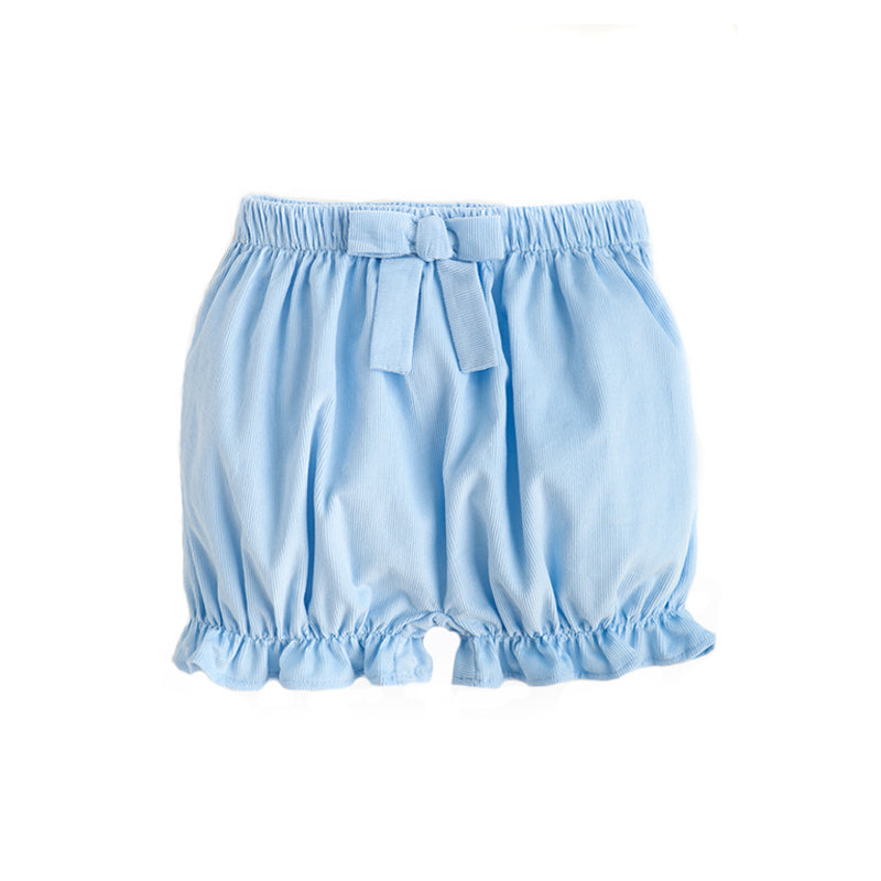 Light Blue Corduroy Bow Bloomers