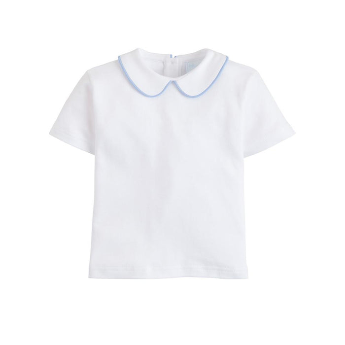 Piped Peter Pan Short Sleeve Shirts