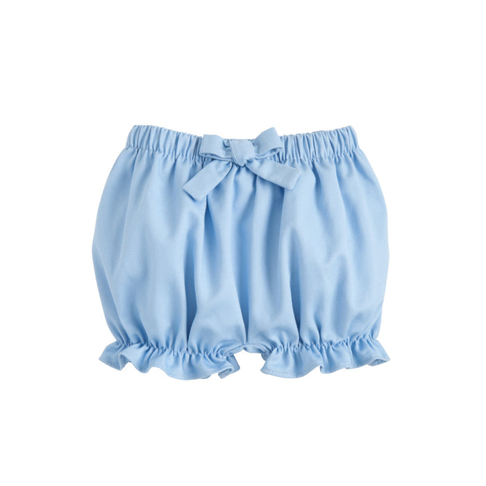 Light Blue Twill Bow Bloomers
