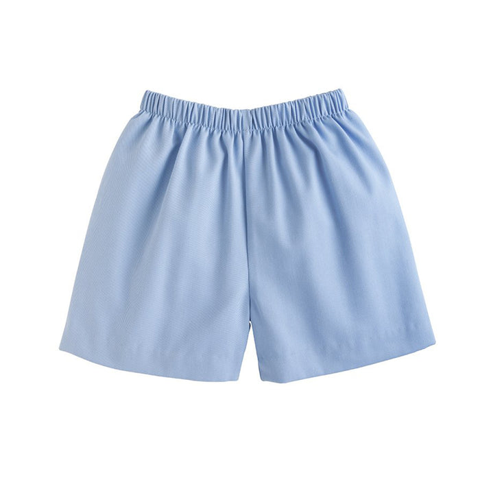 Light Blue Twill Shorts