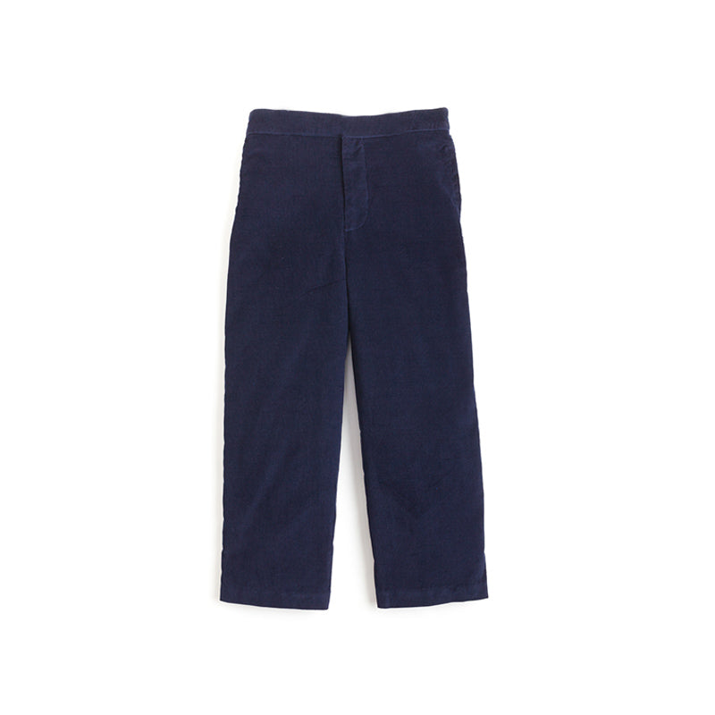 little english boy's navy corduroy pull on pant