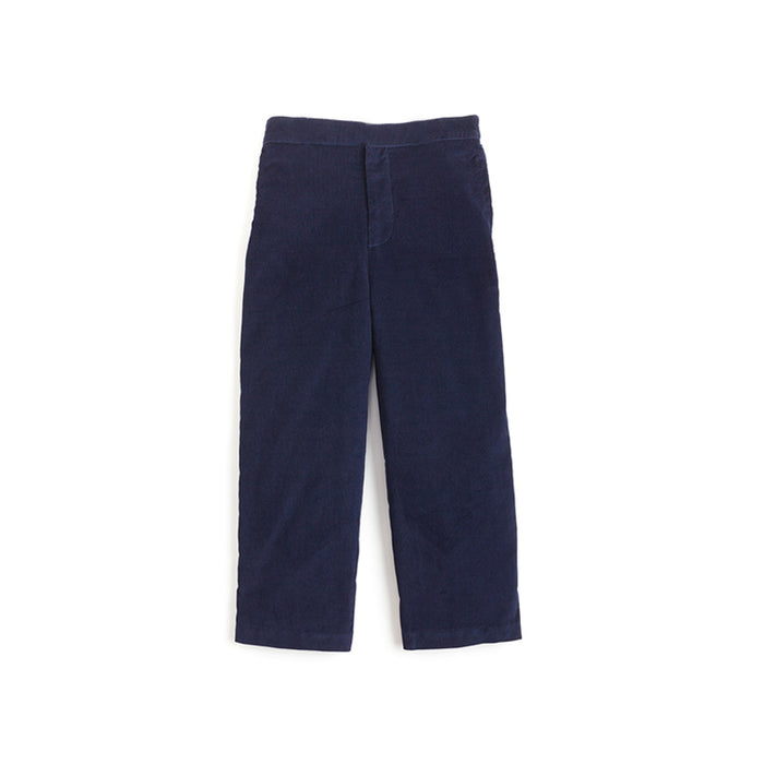 Navy Corduroy Pull On Pants