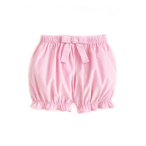 Light Pink Corduroy Bow Bloomers
