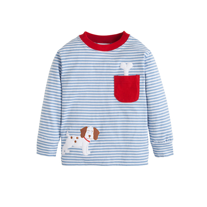 Puppy Pocket Applique Tee