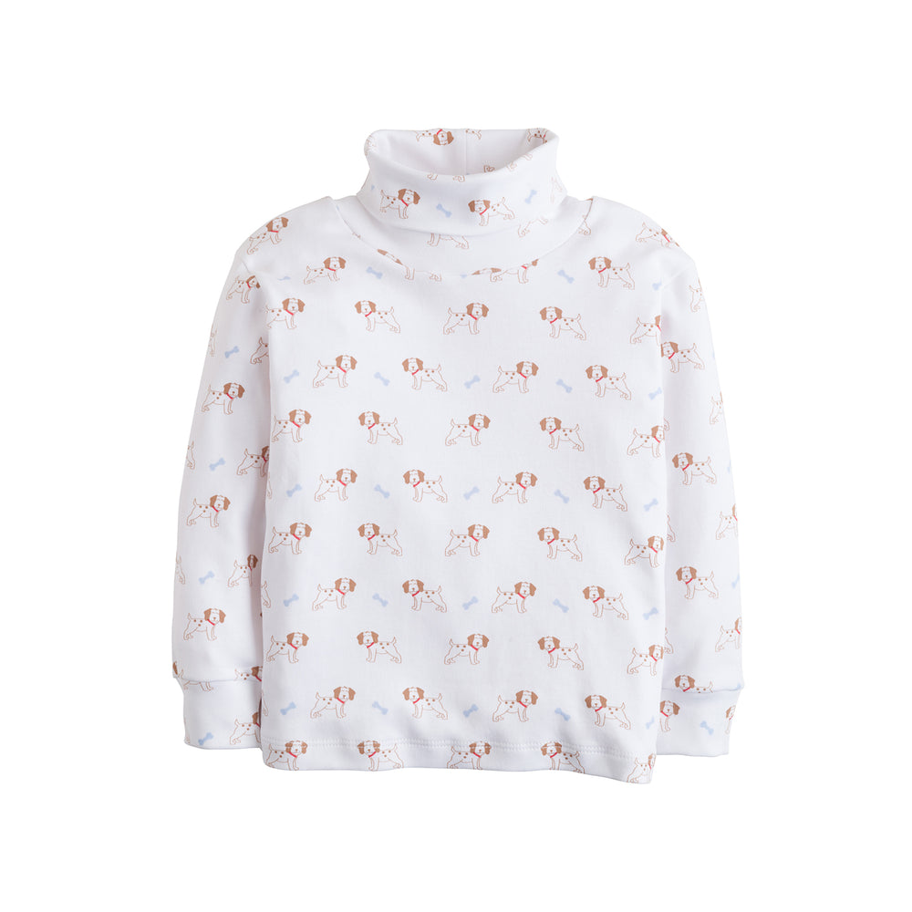Puppy Printed Turtleneck