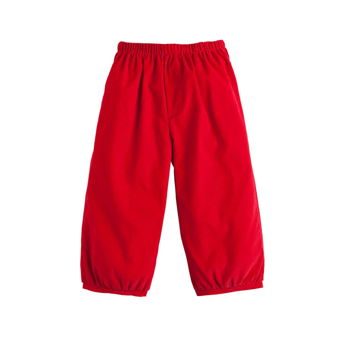 Red Banded Pull On Pants