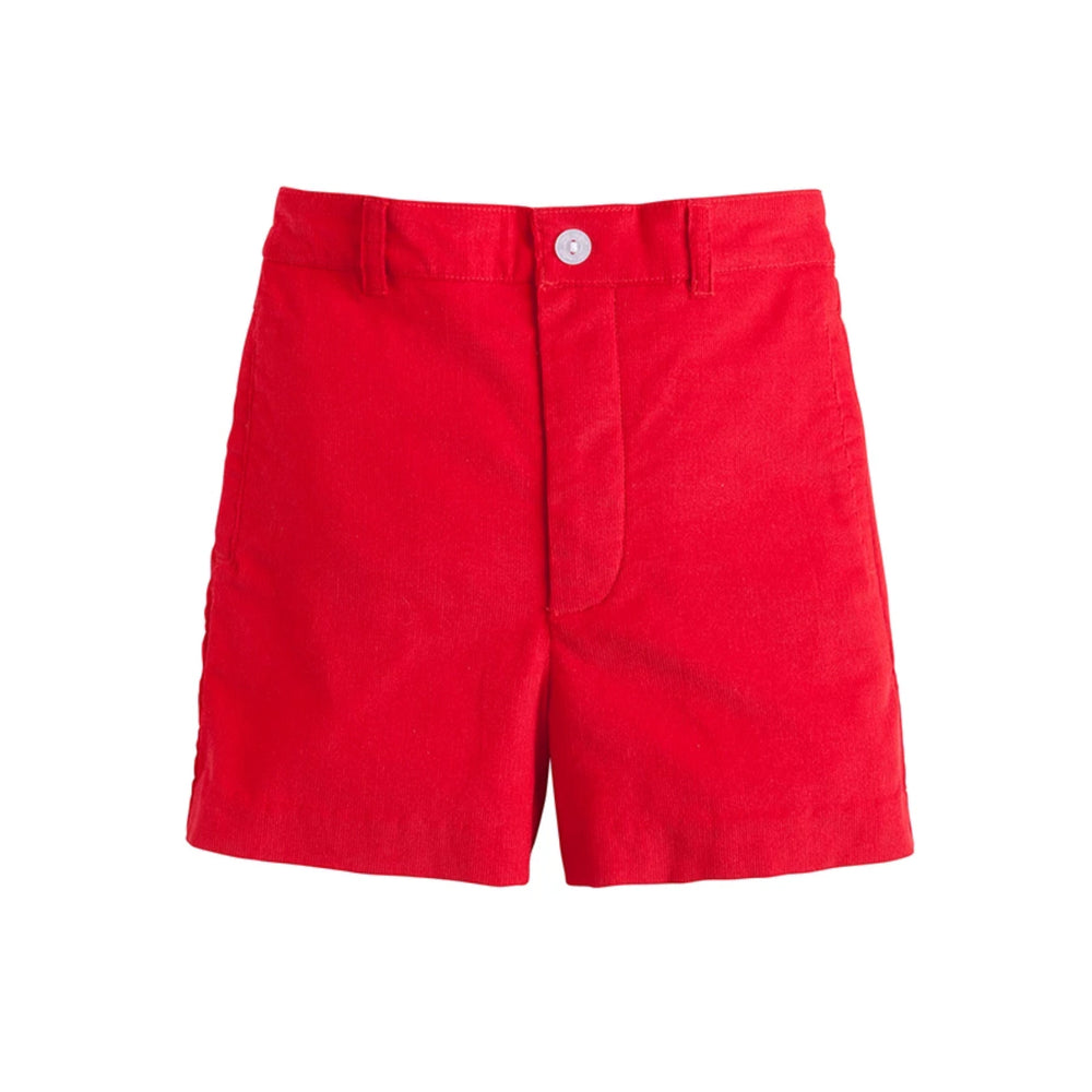 Red Corduroy Boat Short