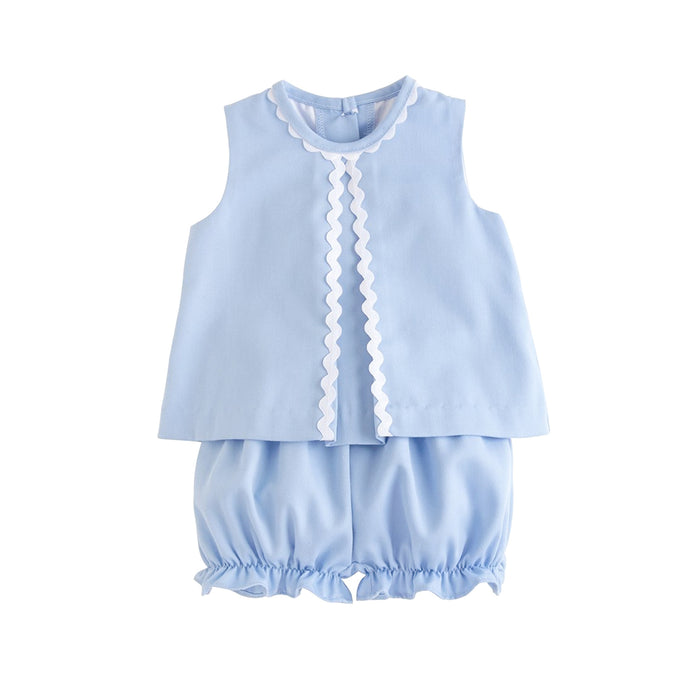 Reese Light Blue Twill Bloomer Set