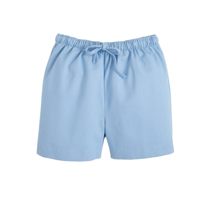 Light Blue Twill Drawstring Short